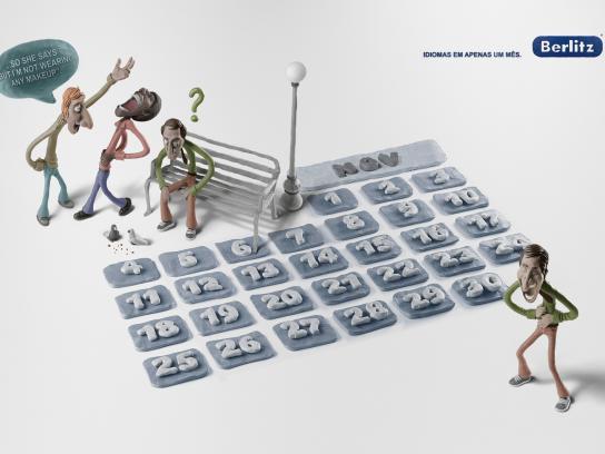 Berlitz Print Ad -  Calendar, Joke