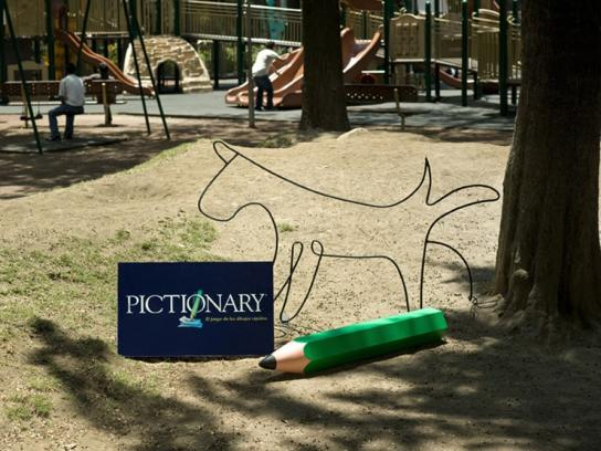 Pictionary Print Ad -  Dog