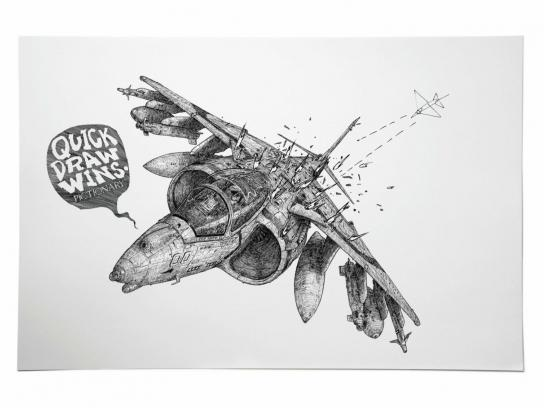 Pictionary Print Ad -  Jet Fighter
