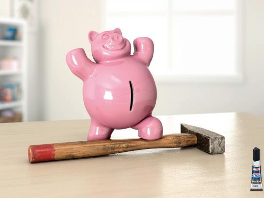 Loctite Print Ad -  Piggy Bank