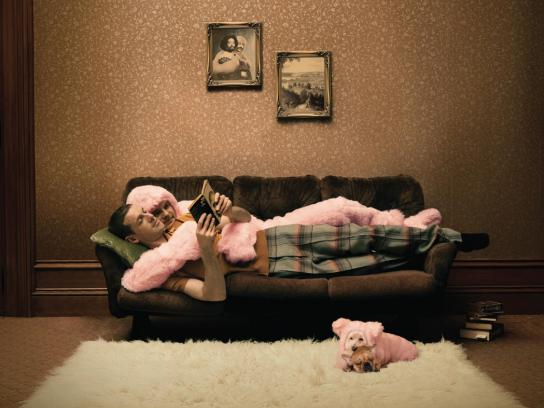 Pink Batts Print Ad -  Couch