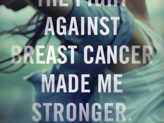 Pink Ribbon Print Ad -  Stronger