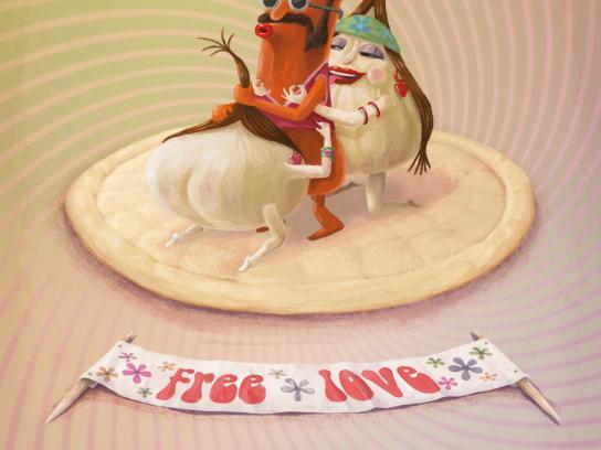 Pizza&Love Print Ad -  Sausage