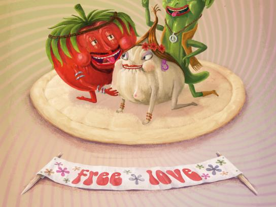 Pizza&Love Print Ad -  Tomato