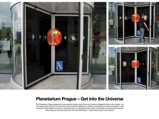 Planetarium Prague Ambient Ad -  Get into the Universe