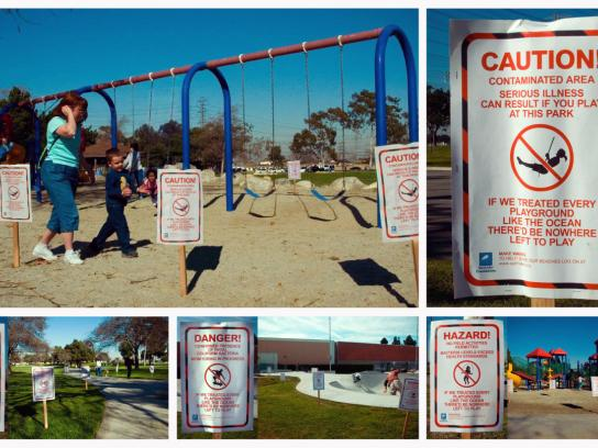 Surfrider Foundation Outdoor Ad -  Playground signs