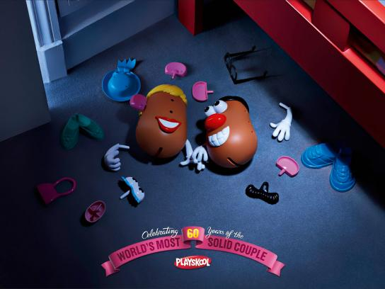 Hasbro Print Ad -  60 years couple