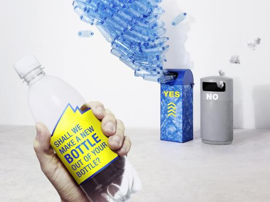 PET Recycling Print Ad -  Bottle