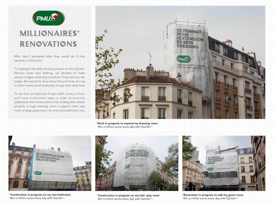 PMU Outdoor Ad -  Millionnaires' Renovations