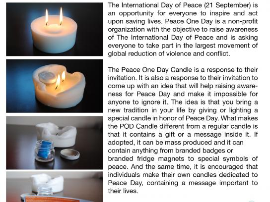Peace Day Direct Ad -  Candle