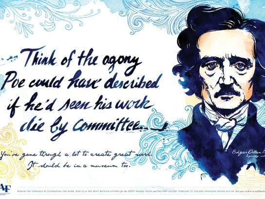 AAF ADDY Awards Print Ad -  Poe