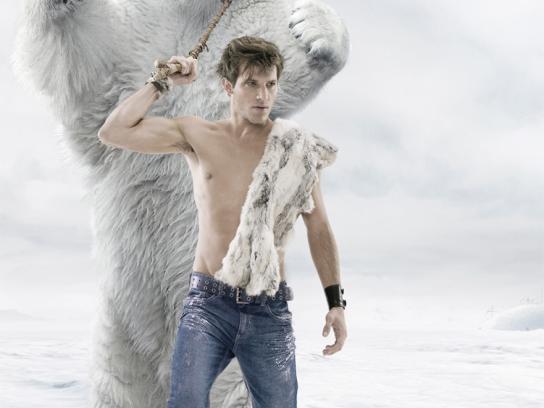 Soviet Jeans Print Ad -  Polar Bear, Guy