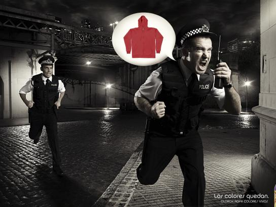 Clorox Print Ad -  Police chase