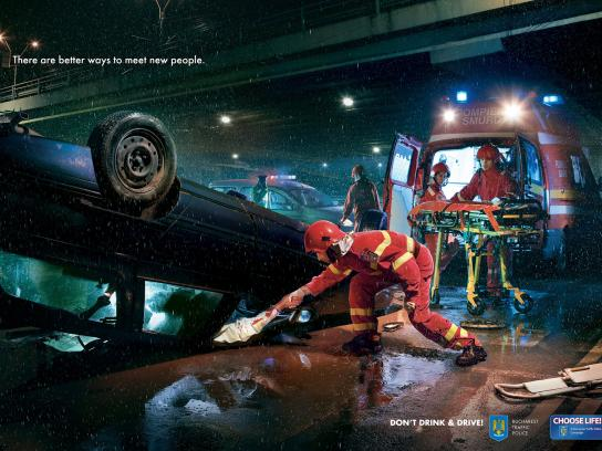 Romanian Traffic Police Print Ad -  Meet New People, Car
