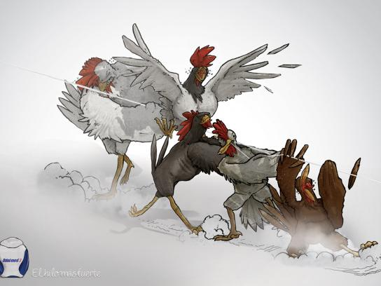 Odol-Med Print Ad -  Chickens