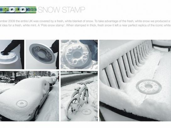 Polo Ambient Ad -  Snow Stamp