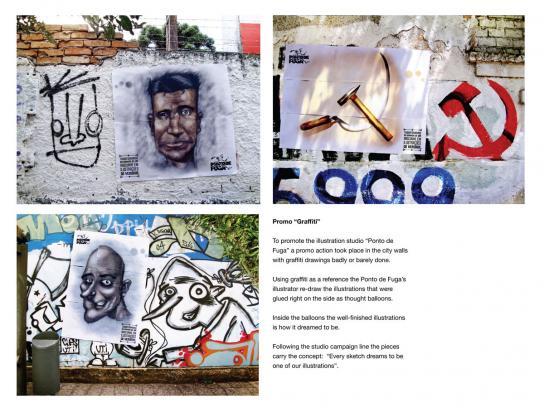Ponto de Fuga Illustration Studio Ambient Ad -  Graffiti