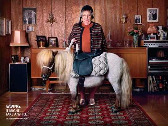 Bank Norwegian Print Ad -  Pony
