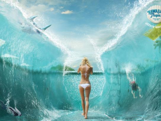Hawaiian Tropic Print Ad -  Pool