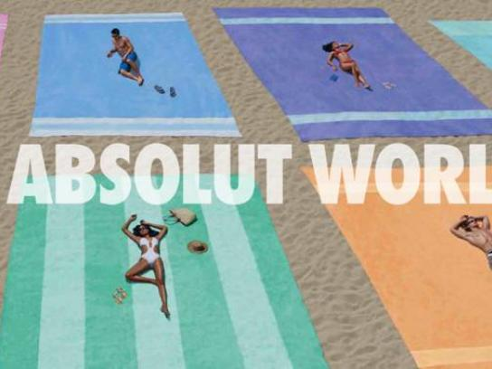 Absolut Print Ad -  Beach