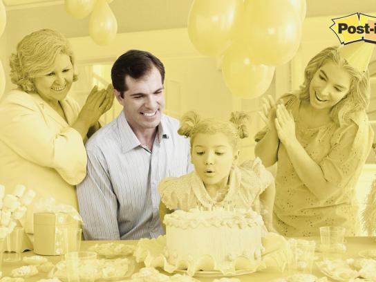 Post-it Brand Print Ad -  Yellow, Birthday