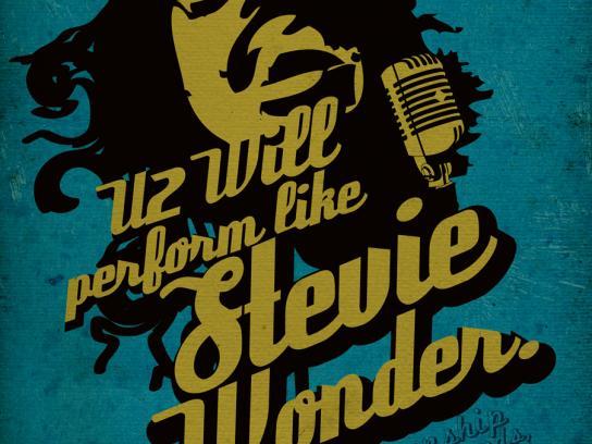 Music Square Print Ad -  Stevie Wonder