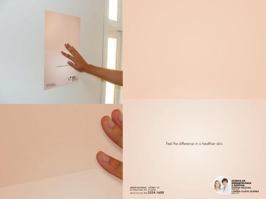 Oliete Guerra Beauty Clinic Outdoor Ad -  Skin texture