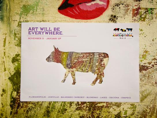 CowParade Print Ad -  Art Will Be Everywhere, 2
