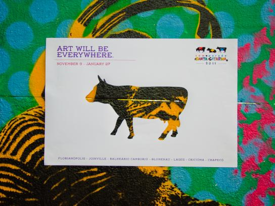 CowParade Print Ad -  Art Will Be Everywhere, 3