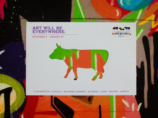CowParade Print Ad -  Art Will Be Everywhere, 4