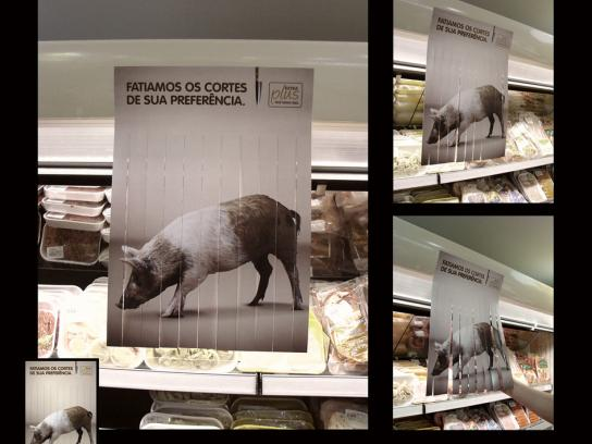 Extra Plus Supermarket Ambient Ad -  Sliced meat as you like, Pork