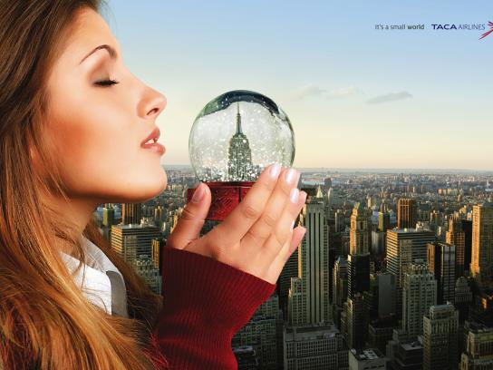TACA Airlines Print Ad -  Small NY