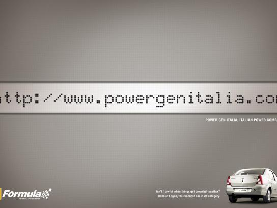 Renault Print Ad -  Internal Space, Power Gen Italia
