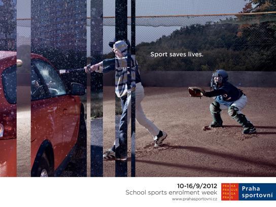 Praha Sportovni Print Ad -  Baseball