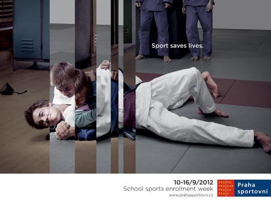Praha Sportovni Print Ad -  Judo