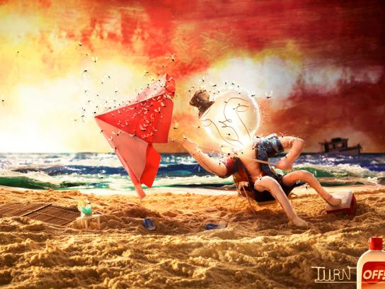 Off! Print Ad -  Beach