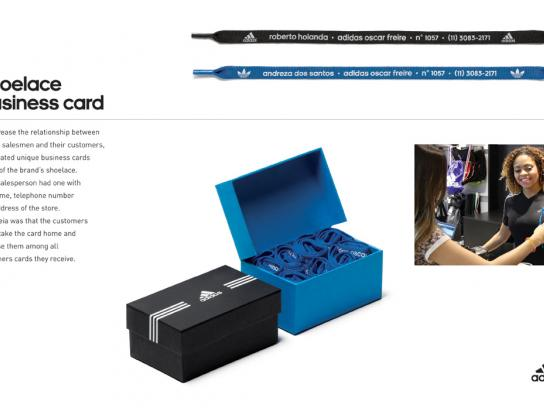 Adidas Direct Ad -  Shoelace Business Card