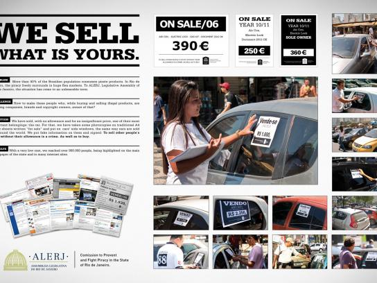 Alerj Ambient Ad -  We Sell What Is Yours