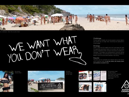 Agente Cidadão Ambient Ad -  We want what you don't wear