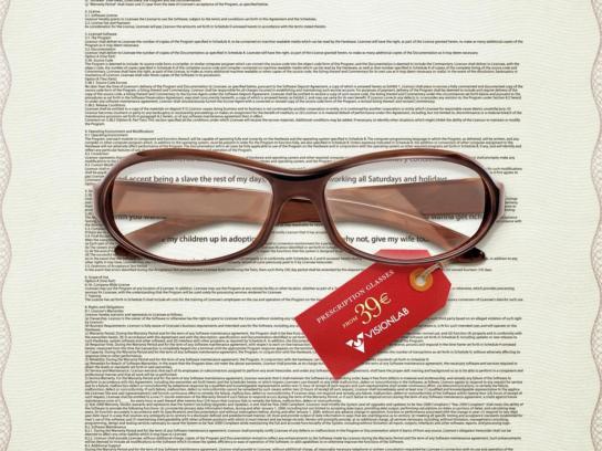 Visionlab Print Ad -  Software Terms