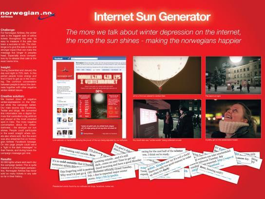 Norwegian Ambient Ad -  Internet Sun Generator