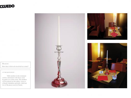 Cluedo Print Ad -  Candle holder