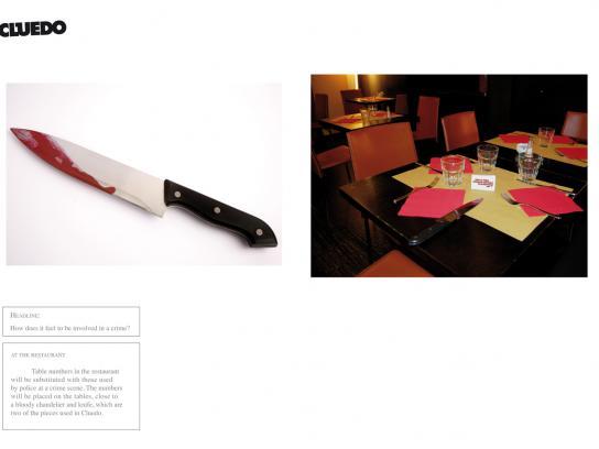 Cluedo Print Ad -  Knife