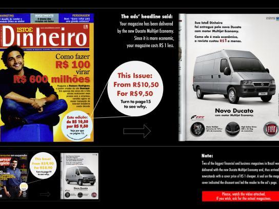 Fiat Print Ad -  Cheaper Magazine