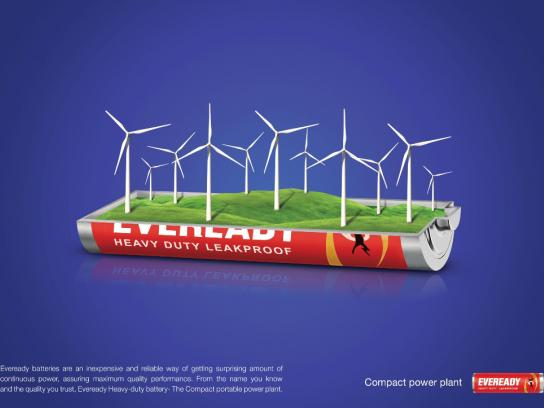 Eveready Print Ad -  Wind
