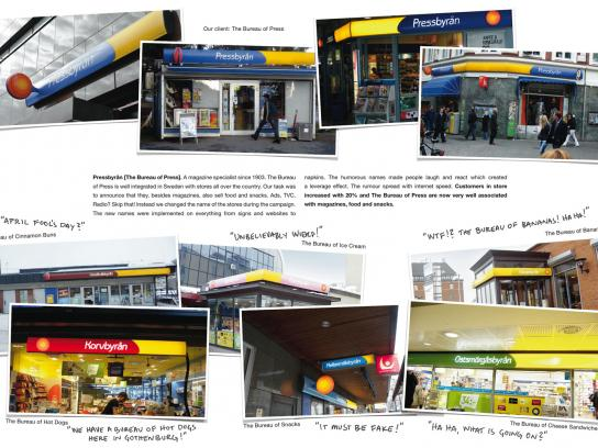 Pressbyran Ambient Ad -  The Name Change