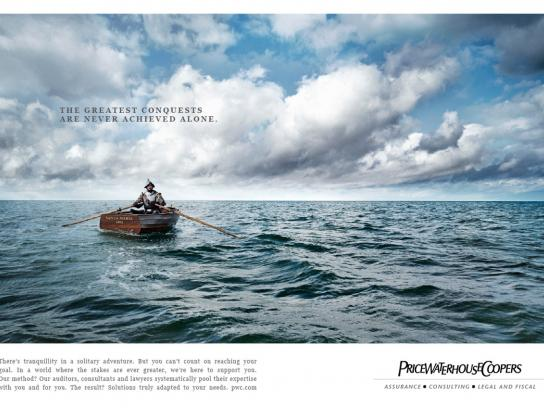 PriceWaterHouseCoopers Print Ad -  Boat