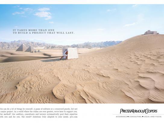 PriceWaterHouseCoopers Print Ad -  Desert