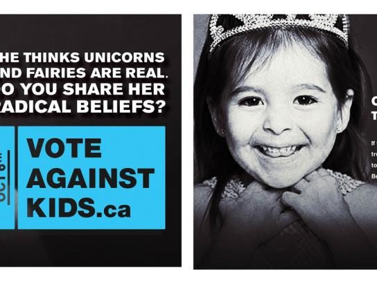 Elementary Teachers' Federation of Ontario Print Ad -  Vote against kids, Princess