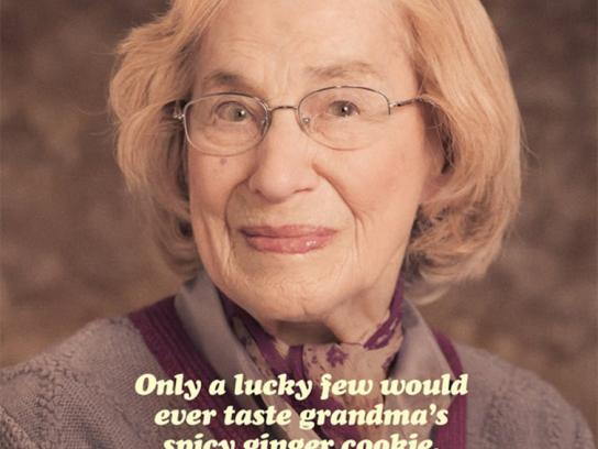 Crosby's Print Ad -  Grandma's Spicy Ginger Cookie